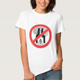 Do Not Bee Narrow Brained RD BLK WH. T-shirt