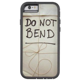 Do Not Bend Bendgate Paper Parcel with String Tough Xtreme iPhone 6 Case