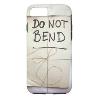 Do Not Bend Hand Lettered Paper Parcel Bendgate iPhone 8/7 Case