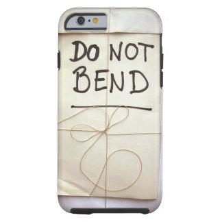 Do Not Bend Hand Lettered Paper Parcel Bendgate Tough iPhone 6 Case