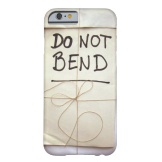Do Not Bend Hand Lettered Paper Parcel with String Barely There iPhone 6 Case