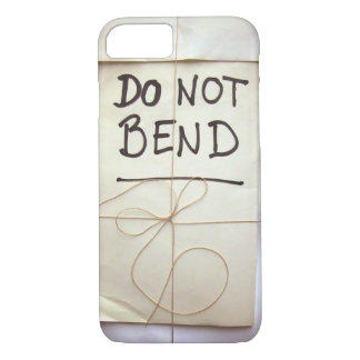 Do Not Bend Hand Lettered Paper Parcel with String iPhone 8/7 Case