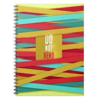 Do not bend laced great background spiral notebook