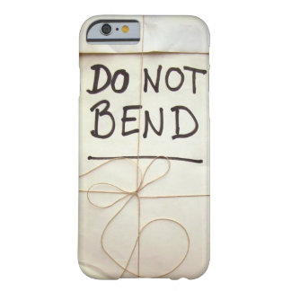 Do Not Bend Paper Parcel Package with String Barely There iPhone 6 Case