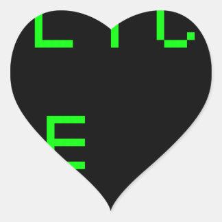 do.not.click.me.pl ease.1 pegatina en forma de corazón