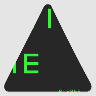 do.not.click.me.pl ease.1 pegatina triangular