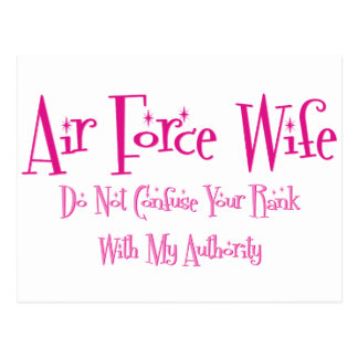 Do Not Confuse, Air Force Wife Postcard