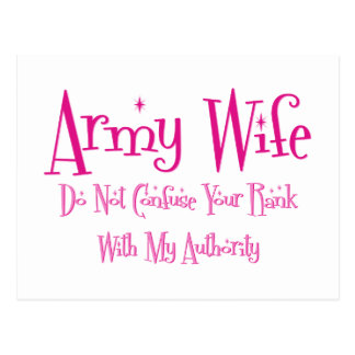 Do Not Confuse Army Wife Post Cards