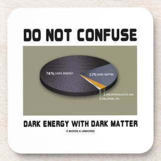 Do Not Confuse Dark Energy With Dark Matter Beverage Coaster