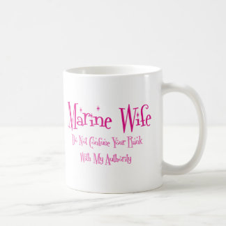 Do Not Confuse, Marine Wife Classic White Coffee Mug