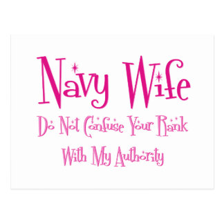 Do Not Confuse, Navy Wife Postcard