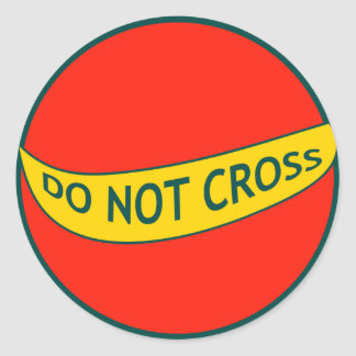 DO NOT CROSS POLICE AREA CLASSIC ROUND STICKER