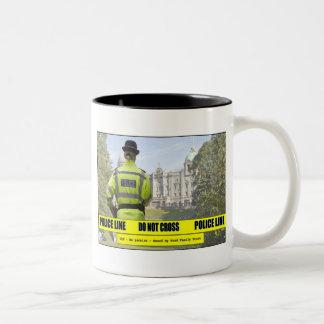 Do Not Cross Two-Tone Coffee Mug