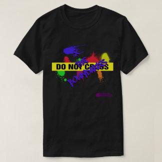 Do Not Cross/X the Boundaries Men's Black T-Shirt