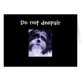 DO NOT DESPAIR=40th BIRTHDAY HUMOR Card