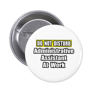 Do Not Disturb...Administrative Assistant at Work Pins