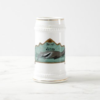 Do not disturb - Anteater on a couch Beer Stein