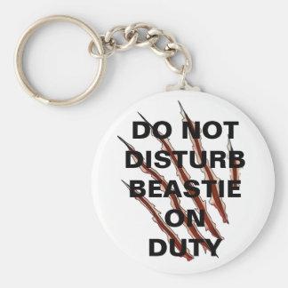 Do Not Disturb Beastie Button Keychain