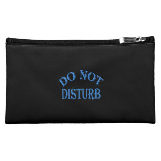 Do Not Disturb - Black Background Cosmetic Bags