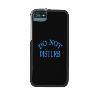 Do Not Disturb - Black Background iPhone 5 Cover