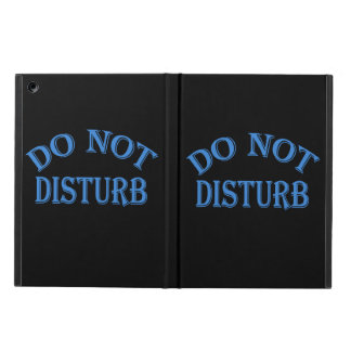 Do Not Disturb - Black Background iPad Air Case