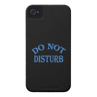 Do Not Disturb - Black Background iPhone 4 Case