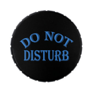 Do Not Disturb - Black Background Jelly Belly Tin