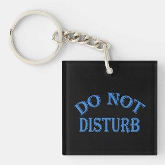Do Not Disturb - Black Background Keychain