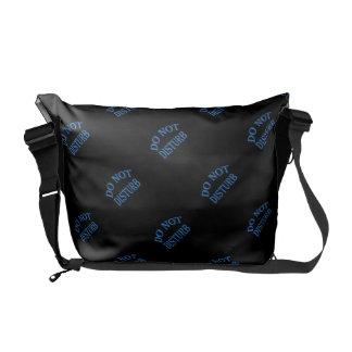Do Not Disturb - Black Background Messenger Bag