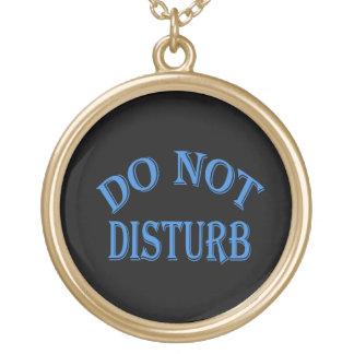 Do Not Disturb - Black Background Jewelry