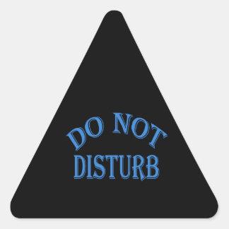 Do Not Disturb - Black Background Triangle Sticker