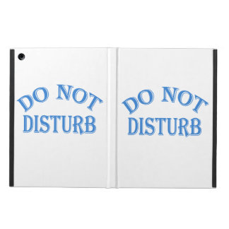 Do Not Disturb (Blue Text) iPad Air Case