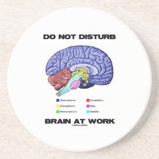 Do Not Disturb Brain At Work (Anatomical Humor) Coasters