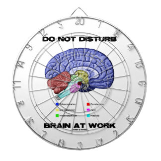 Do Not Disturb Brain At Work (Anatomical Humor) Dart Board