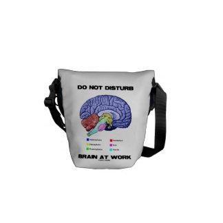 Do Not Disturb Brain At Work (Anatomical Humor) Messenger Bag