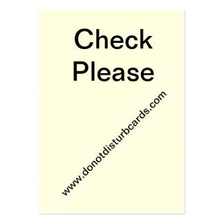 Do Not Disturb cards.Com (Check Please card.) Business Card Templates