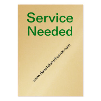 Do Not Disturb cards .Com (Service Needed Card) Business Cards