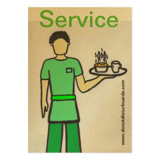 Do not Disturb Cards .Com (Waiter). Business Card Template