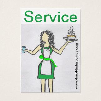 Do not Disturb Cards .Com (Waitress in control).