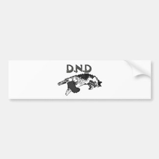 Do Not Disturb Cat Bumper Sticker