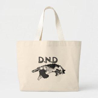 Do Not Disturb Cat Large Tote Bag
