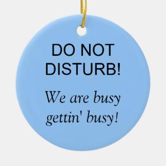 Do Not Disturb Ceramic Ornament