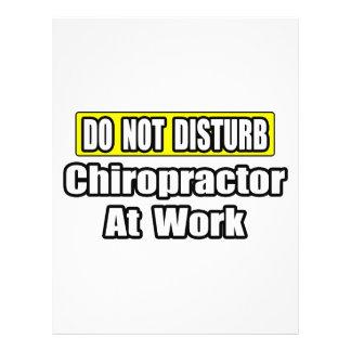 Do Not Disturb...Chiropractor At Work Flyer