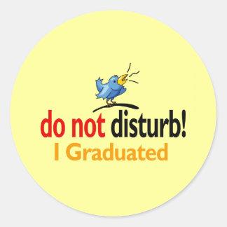 Do not disturb classic round sticker