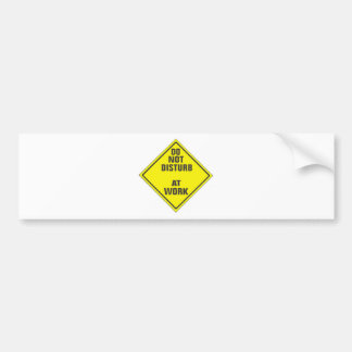 DO NOT DISTURB CUSTOM PRO SIGN FOR ANYONE BUMPER STICKER