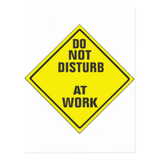 DO NOT DISTURB CUSTOM PRO SIGN FOR ANYONE POSTCARD
