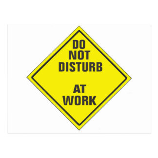 DO NOT DISTURB CUSTOM PRO SIGN FOR ANYONE POSTCARD