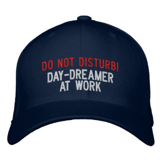 Do not Disturb! Day-dreamer At Work Embroidered Hats