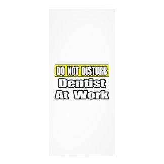 Do Not Disturb Dentist At Work Rack Card Template