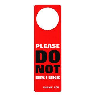 do not disturb door knob hangers